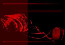 Sang et couverture de livre d'empreinte digitale Thème dramatique illustration libre de droits