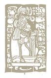 Sang et Glyphs maya Photographie stock