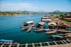 Sang kla Buri  life on the river Stock Photos