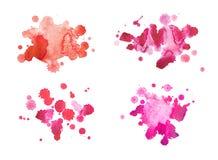 Sang rouge tiré par la main d'aquarelle abstraite d'aquarelle Photo libre de droits