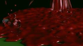 Sang sur la table de tisonnier illustration stock
