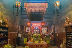 Sang Tham Shrine in 18th Phuket chinese new year day and old Phuket town Festival in Phuket, Thailand stock image