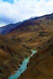 Sangam flod Arkivbild