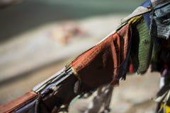Sangam Indus en Zanskar-Rivieren die in Leh samenkomen Stock Foto