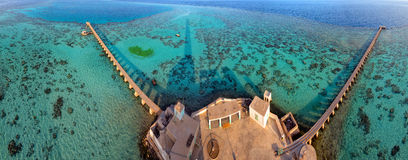 Sanganeb lightouse red sea reef view Stock Photography