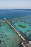 Sanganeb lightouse reef view Stock Images