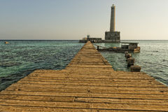 Sanganeb Red sea lightouse reef view Stock Photography