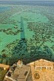 Sanganeb Red sea lightouse reef view Stock Photo