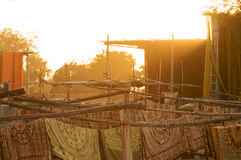 Βαφή των εργασιών, Sanganer, Jaipur Στοκ εικόνα με δικαίωμα ελεύθερης χρήσης