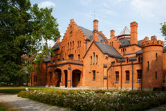 Sangaste slott i Estland Arkivbild