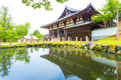 Sangatsu-do Hall Entrance Pond Reflection H Stock Image