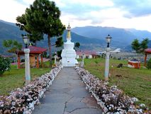 Sangchhen pacífico Dorji Lhuendrup Lhakhang, Bhután imagenes de archivo