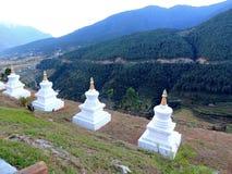 Sangchhen paisible Dorji Lhuendrup Lhakhang, Bhutan pendant le crépuscule images libres de droits