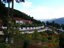 Sangchhen paisible Dorji Lhuendrup Lhakhang, Bhutan pendant le crépuscule photos stock