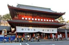 Sangedatsumon Gate at Zojoji Temple in Tokyo Royalty Free Stock Image