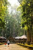 Sangeh猴子森林在巴厘岛,印度尼西亚 库存图片