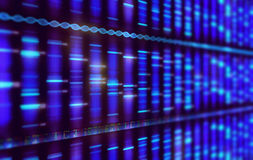 Sanger Sequencing Background Royalty Free Stock Photo