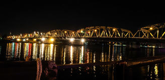 Sanghi, the vintage bridge in Bangkok city, Thailand. Sanghi, one of the vintage bridges in Bangkok city, Thailand. The truss and structure of it shows the Stock Photos