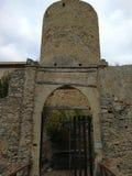 Sangineto - Entrance to the Castello del Principe. Sangineto, Cosenza, Calabria, Italy - August 28, 2017: Entrance of the Castello del Principe seen from the Royalty Free Stock Photography