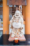 Sangkajjay stutue God of fortune and fertility in Shitennoji temple Royalty Free Stock Photography