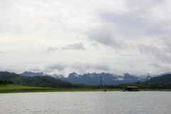 Sangklaburi, an idyllic place and well worth visiting area in th. E north west of Kanchanaburi, Thailand Stock Photography