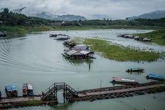 Sangklaburi Songkalia flod Fotografering för Bildbyråer