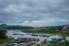 Sangklaburi Songkalia flod Royaltyfria Foton