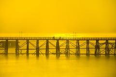Sangklaburi thailand. Bridge, ocean, water, warmth Stock Image