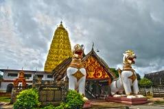 Sangklaburi Thailand van de leeuw hdr Royalty-vrije Stock Afbeeldingen