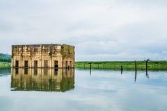 Sangklaburi underwater Temple Royalty Free Stock Image