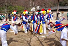 Sangmo dancers Royalty Free Stock Photos
