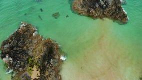 Sango从上面铺沙海滩在德内斯在苏格兰高地 影视素材