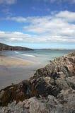 Sango Bay, northern Scotland. Azure water, blue sky at Sango Bay, Durness, northern Scotland Stock Photos