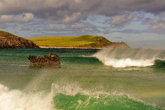 Sango beach spray, Northern Scotland Stock Images
