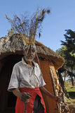 Sangoma Pitso and hut Stock Image