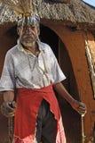Sangoma Pitso y rondavel Fotografía de archivo