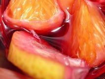 Sangría de las frutas Imagen de archivo libre de regalías