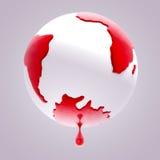 Sangramento da terra do planeta ilustração stock