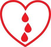 Sangramento dentro do coração fotografia de stock