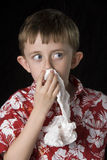 Sangramento do nariz Fotografia de Stock