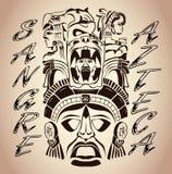 Sangre Azteca - Aztec blod - Aztec stolthet vektor illustrationer
