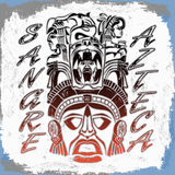 Sangre Azteca - Aztec blood - Aztec Pride Royalty Free Stock Images