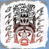 Sangre Azteca - Aztec blood - Aztec Pride Royalty Free Stock Images