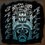 Sangre Azteca - Aztec blood - Aztec Pride - spanish text Royalty Free Stock Photo