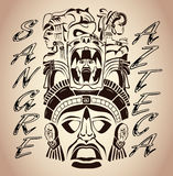 Sangre Azteca - Aztec blood - Aztec Pride Royalty Free Stock Photo