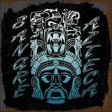 Sangre Azteca aztek duma - hiszpański tekst - aztek krew - ilustracja wektor