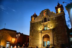 Sangre De Cristo Świątynia Oaxaca obrazy stock