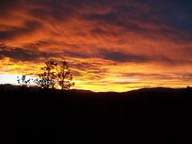 Sangre De Cristo Berg på solnedgången arkivfoto