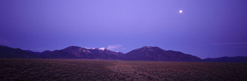 Sangre de Cristo Mountains στο ηλιοβασίλεμα, στοκ εικόνες