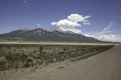 Sangre De Cristo Mountains fotografia stock